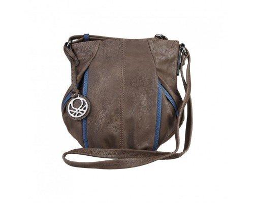 Дамска чанта за рамо Benetton тъмно кафява