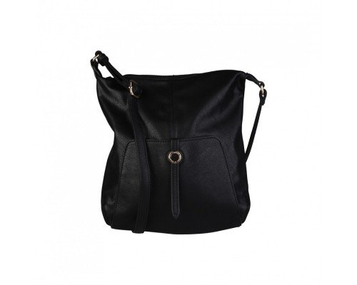 Дамска чанта черна за рамо  Benetton
