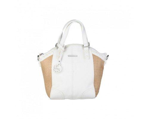 Дамска чанта  Benetton бяло и кафяво