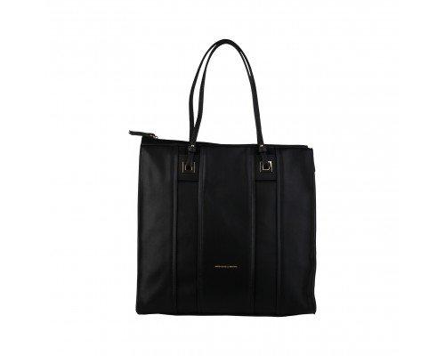 Дамска чанта Benetton с две дръжки черна