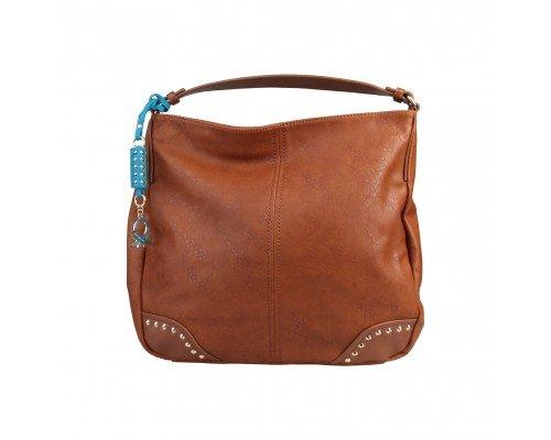 Дамска чанта Benetton кафява с една дръжка  Magritte