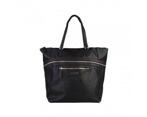 Дамска чанта Benetton черна модел Glitch