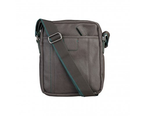 Мъжка чанта Benetton сива за рамо