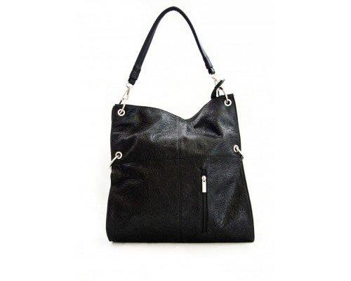 Дамска чанта с две форми черна