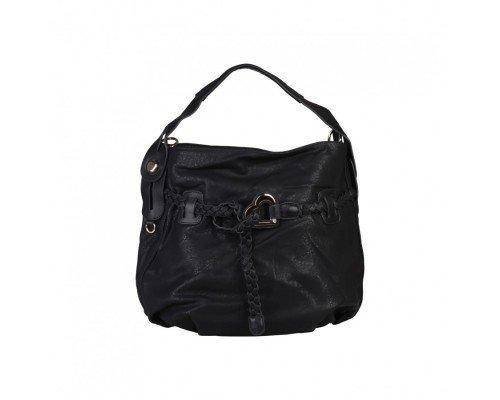 Дамска чанта Dudlin с една дръжка черна