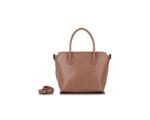 Дамска чанта Ines Delaure светло кафява
