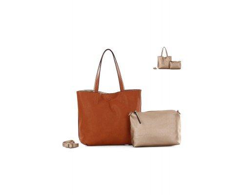 Дамска чанта Ines Delaure с две лица