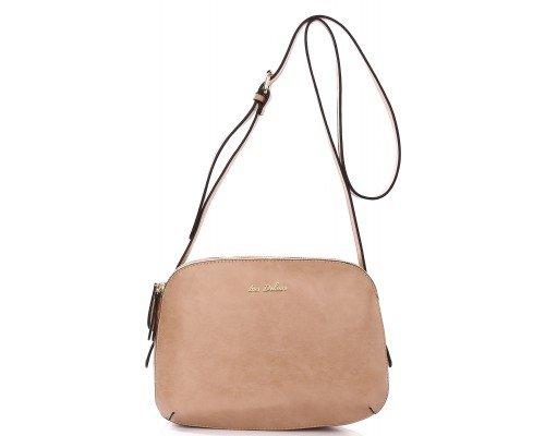 Дамска чанта Ines Delaure тъмно бежова