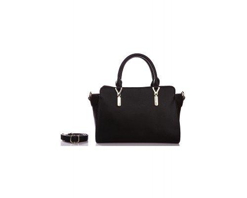 Дамска чанта Ines Delaure черна с две дръжки