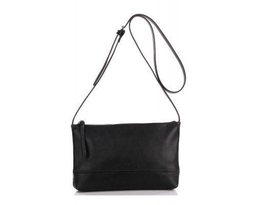 Дамска чанта Ines Delaure черна за рамо