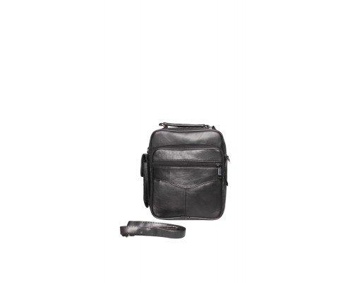 Мъжка кожена черна чанта JCL