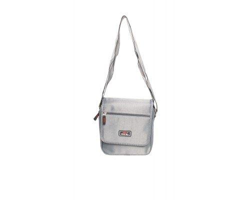 Мъжка чанта JCL сива за през рамо
