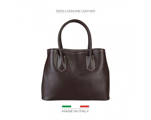 Дамска чанта Made in Italia тъмно кафява