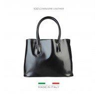 Дамска чанта Made in Italia черна с две дръжки