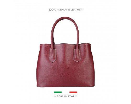 Дамска чанта Made in Italia бордо