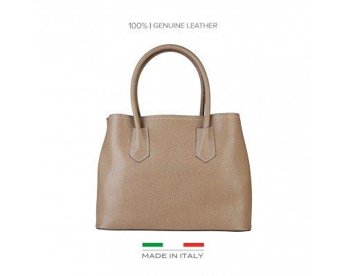 Дамска чанта Made in Italia бежова