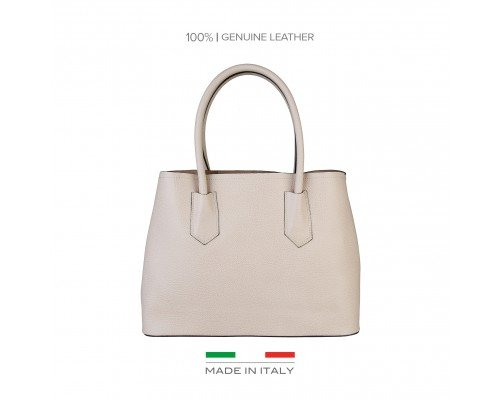 Дамска чанта Made in Italia светло бежова