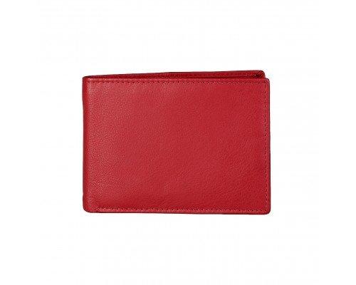 Мъжки портфейл естествена кожа Made in Italia червен