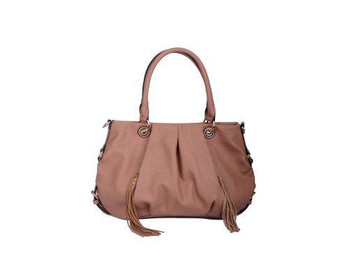 Дамска чанта Max & Enjoy светло кафява
