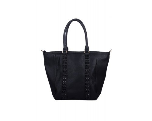 Дамска чанта Max & Enjoy черна с две дръжки