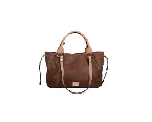 Дамска чанта Max & Enjoy тъмно кафява