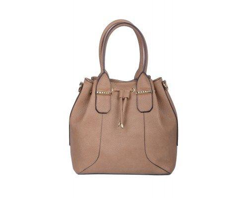 Дамска чанта Max & Enjoy кафява с две дръжки