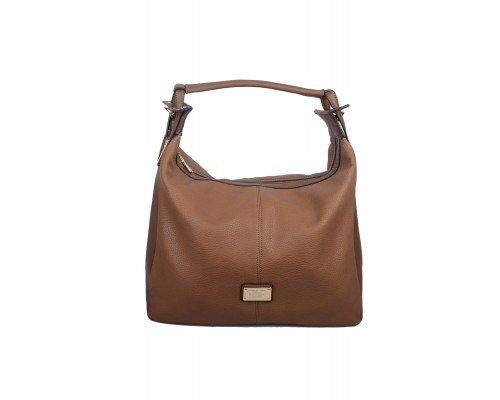 Дамска чанта Max & Enjoy кафява с една дръжка