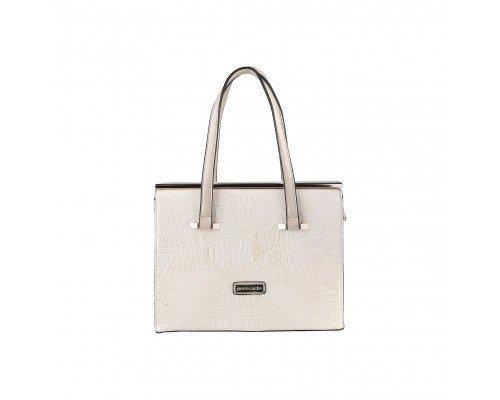 Дамска чанта Pierre Cardin бежова с две дръжки