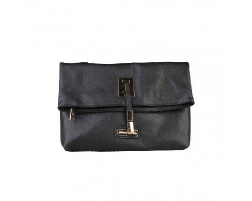 Дамска чанта Pierre Cardin черна за рамо