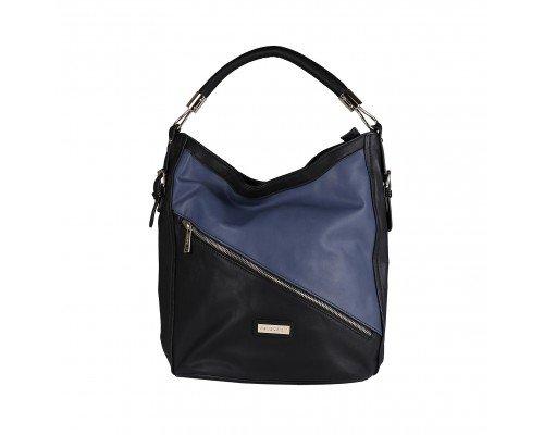 Дамска чанта Pierre Cardin черно и синьо