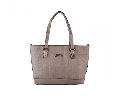 Дамска чанта Pierre Cardin модел Louis кафява с две дръжки