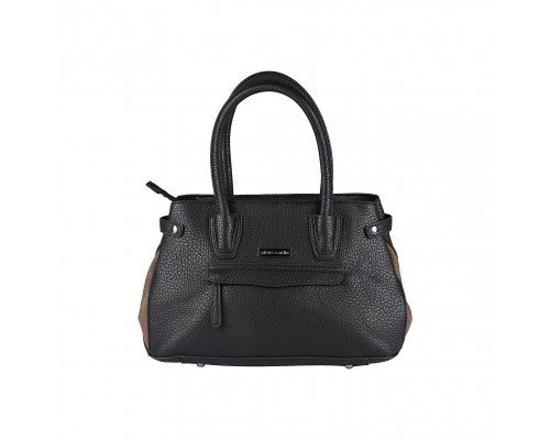 Дамска чанта Pierre Cardin черно и кафяво с две дръжки