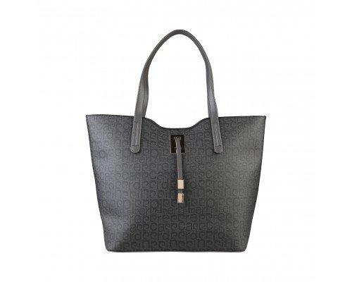 Дамска чанта Pierre Cardin черно и сиво