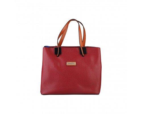 Дамска чанта Pierre Cardin бордо с две дръжки