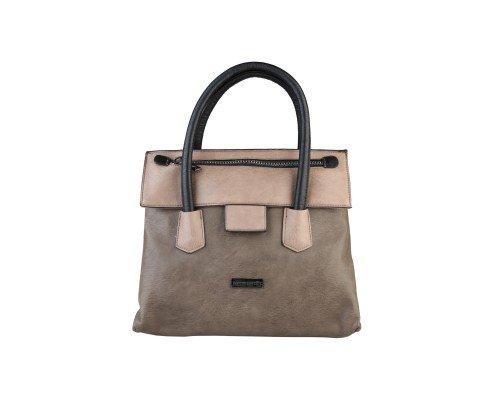 Дамска чанта Pierre Cardin сиво и кафяво