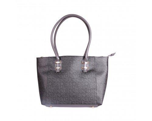 Дамска чанта Pierre Cardin сиво и черно