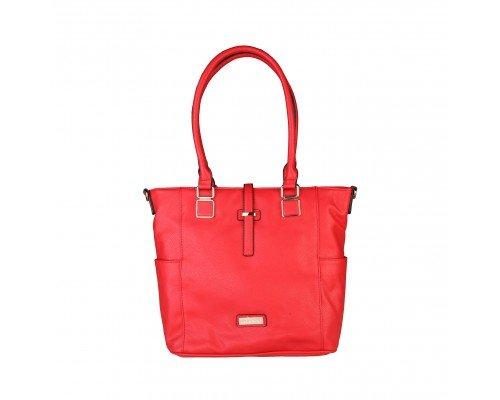 Дамска чанта Pierre Cardin червена с две дръжки