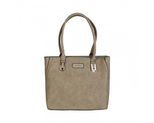 Дамска чанта Pierre Cardin кафява с две дръжки
