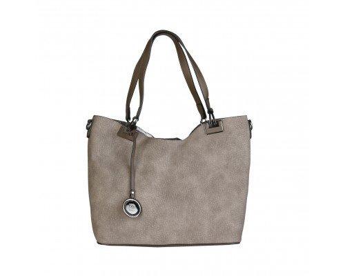 Дамска чанта Pierre Cardin две в едно кафява