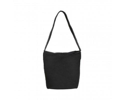 Дамска чанта Pierre Cardin две в едно черна с една дръжка