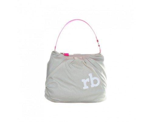 Дамска чанта Roccobarocco сиво с розово