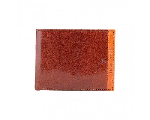 Мъжки портфейл Sergio Tacchini естествена кожа кафяв