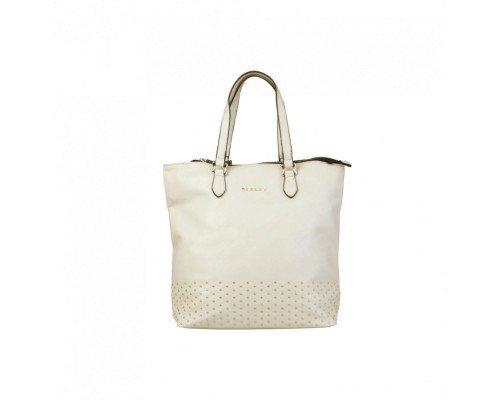 Дамска чанта Sisley екрю с две дръжки