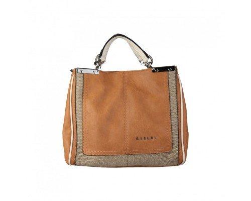 Дамска чанта Sisley кафява