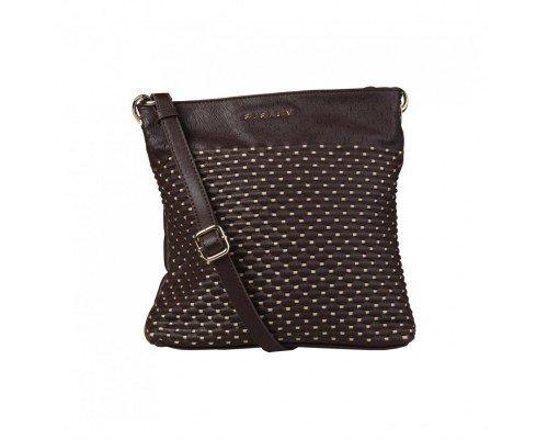 Дамска чанта Sisley кафява за рамо