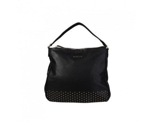 Дамска чанта Sisley черна с една дръжка