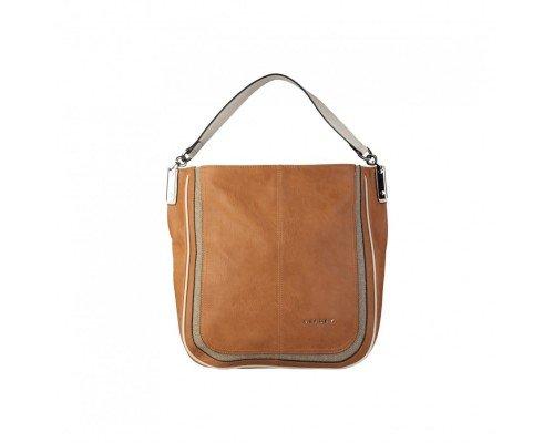 Дамска чанта Sisley кафява с една дръжка