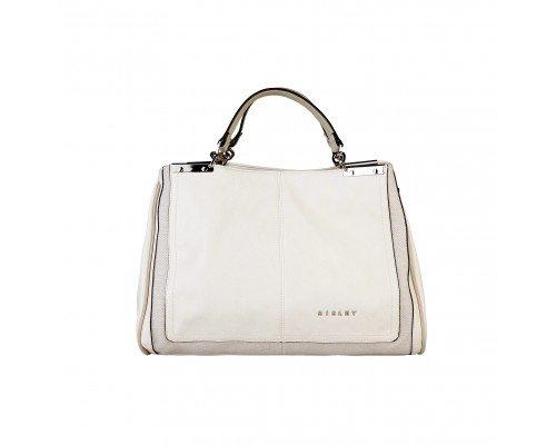 Дамска чанта Sisley две дръжки екрю