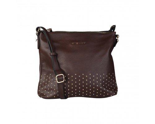 Дамска чанта Sisley за рамо кафява
