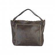 Дамска чанта Sisley тъмно кафява